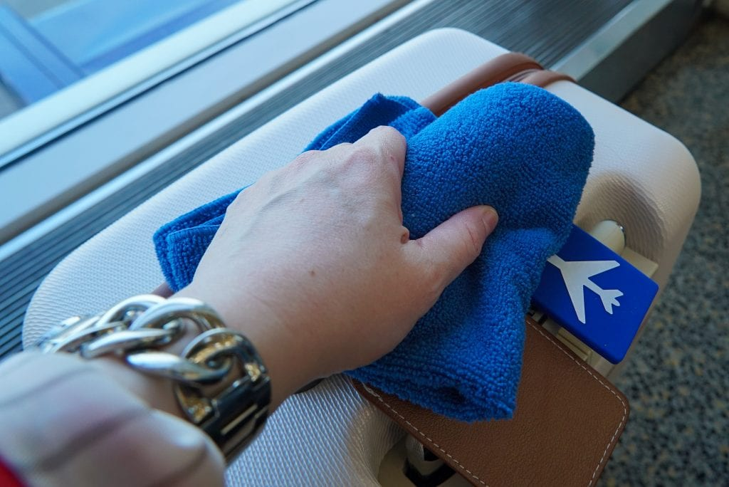 Avoid getting sick while traveling - towel