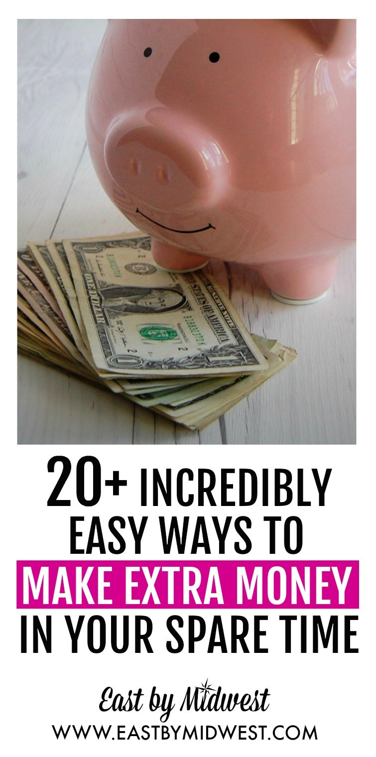 What would you do with a little extra money? Travel? Retire early? Pay off debt? Read this article for easy ways to make extra money in your spare time. Side hustle | Extra cash | Extra income | Money hacks | Money tips #sidehustle