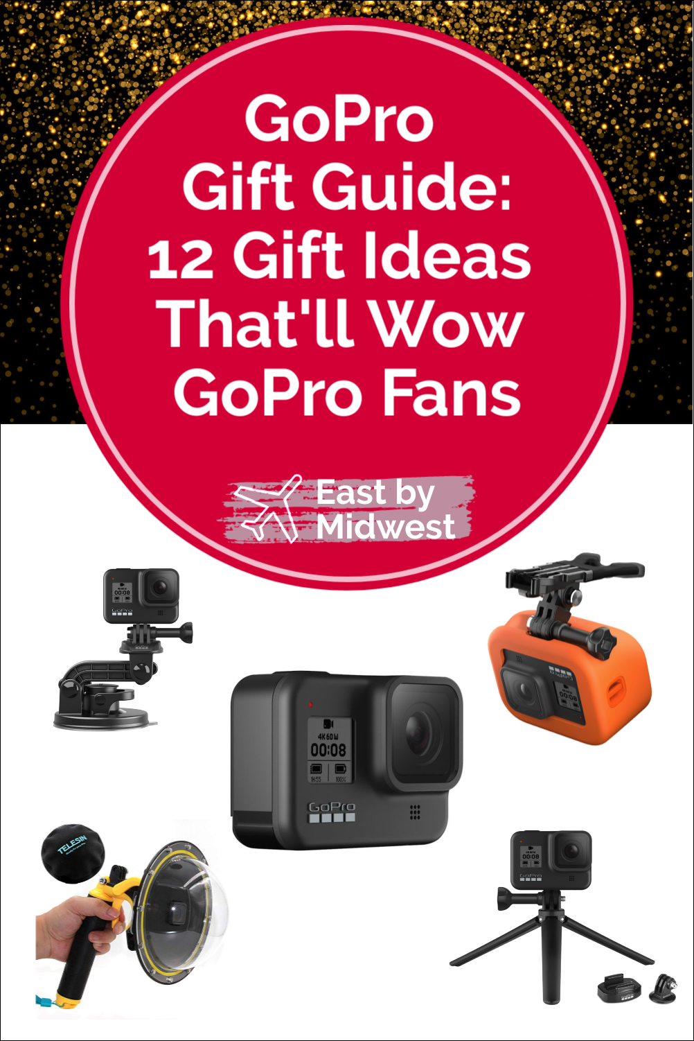 Looking for the perfect gift for the GoPro fan in your life? GoPro fans will geek out over the awesome gifts in this gift guide for GoPro fans. #gopro #giftguide #goprogiftguide #travelphotographer #travelvideo #vlogger #blogger #vlogging