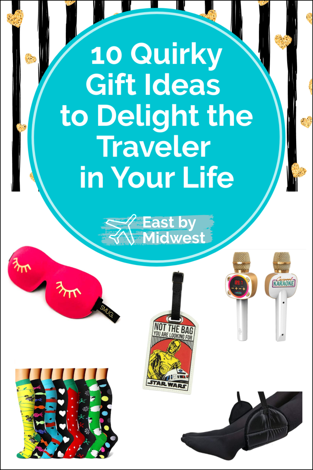 Want to entertain yourself and the traveler in your life? Give them a delightfully quirky gift! These quirky gift ideas for travelers will bring the laughs! #giftguide #giftideas #gifts #travelergifts #travelergiftideas #travelergiftguide #quirkygifts #stockingstuffers