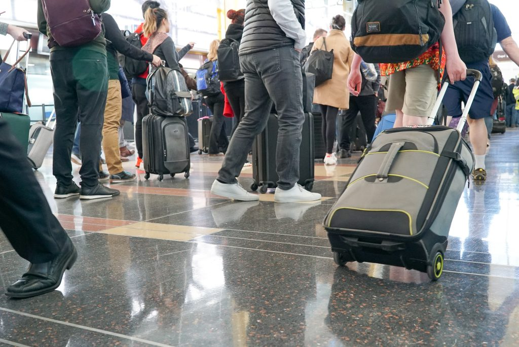 Disastrous travel mistakes - security line