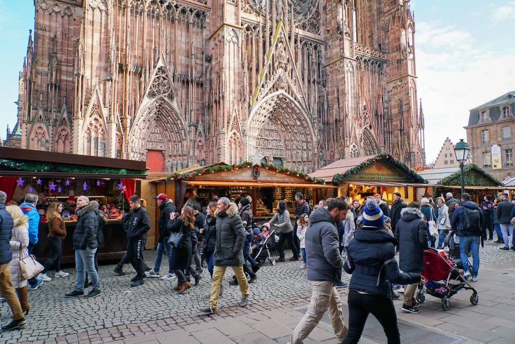 Strasbourg Cathedral and Christmas market - France Christmas markets need to know
