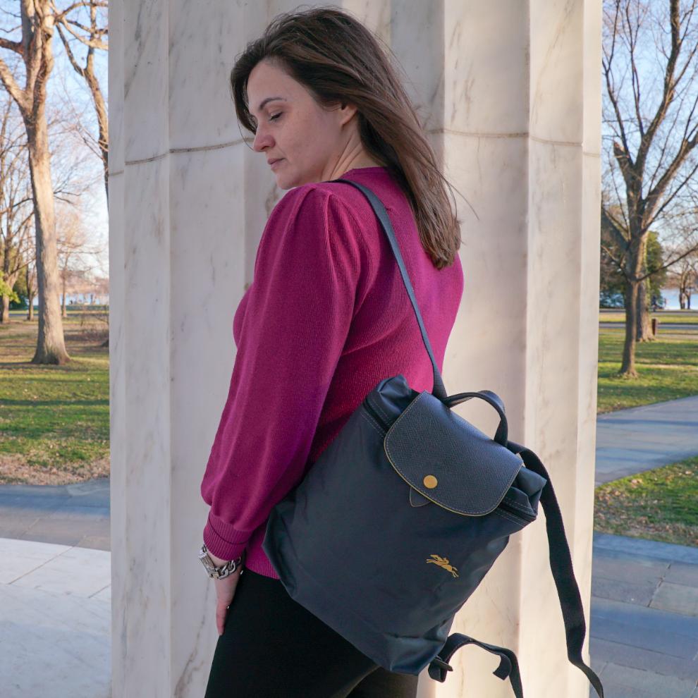 Best Travel Backpacks: Longchamp Le Pliage