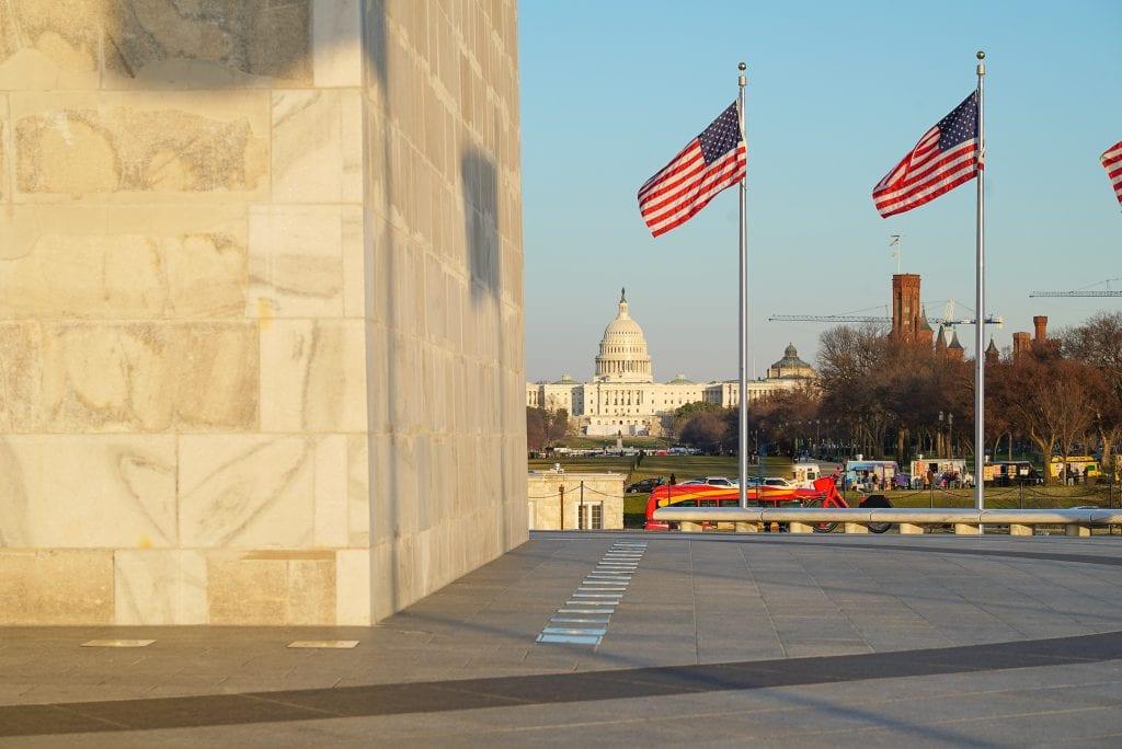 Washington Monument and US Capitol