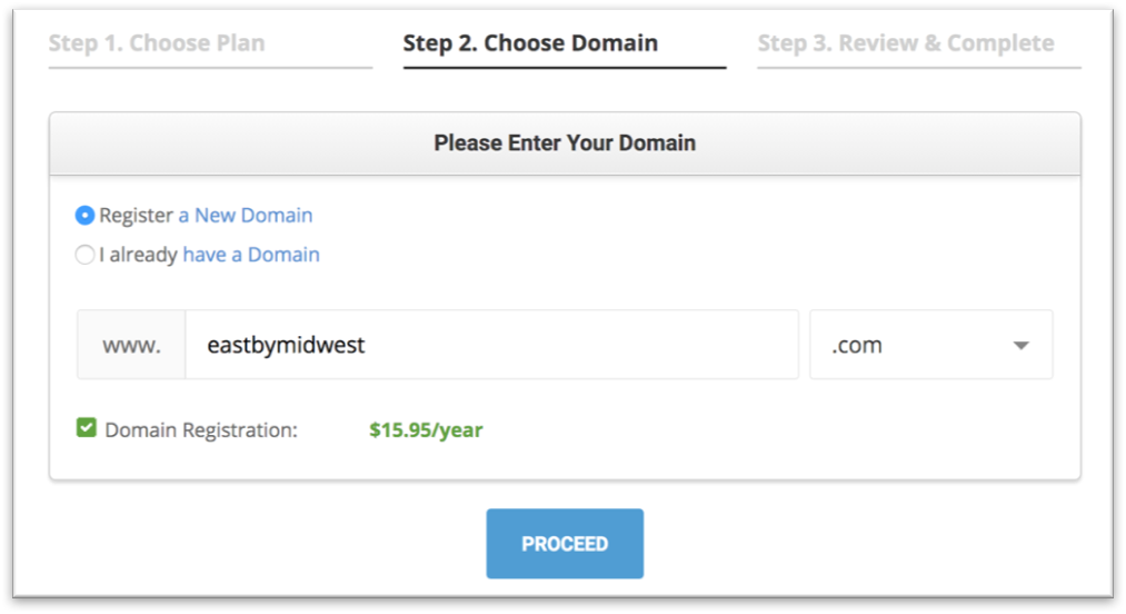 SiteGround Domain Registration - Start a Travel Blog