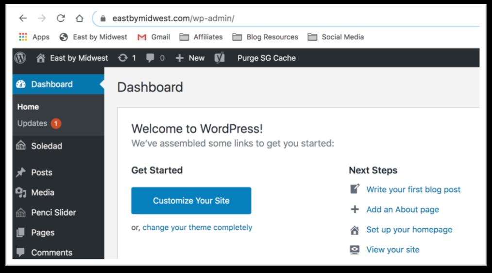 WordPress - Start a Travel Blog