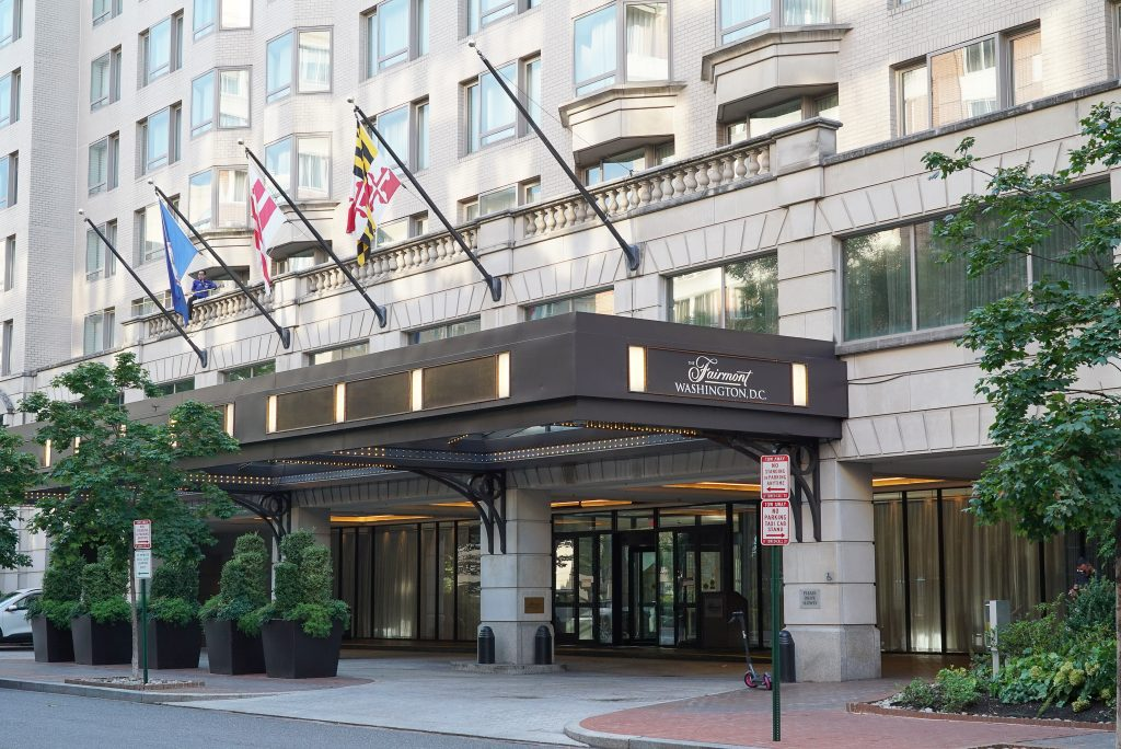 staying a hotel during covid-19 - fairmont hotel - dc