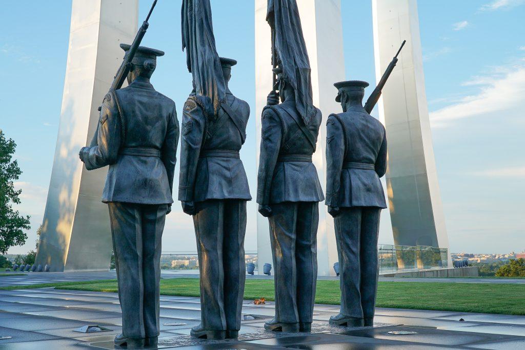 Air Force Honor Guard - Visiting the Air Force Memorial