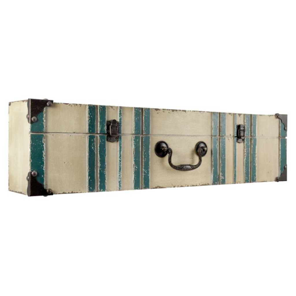 Suitcase shelf - travel-themed home decor