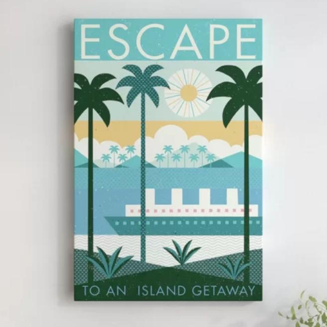 Escape wall print