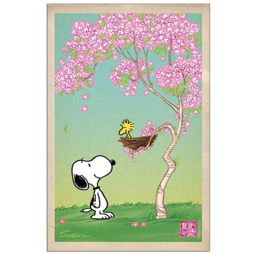 Snoopy cherry blossoms