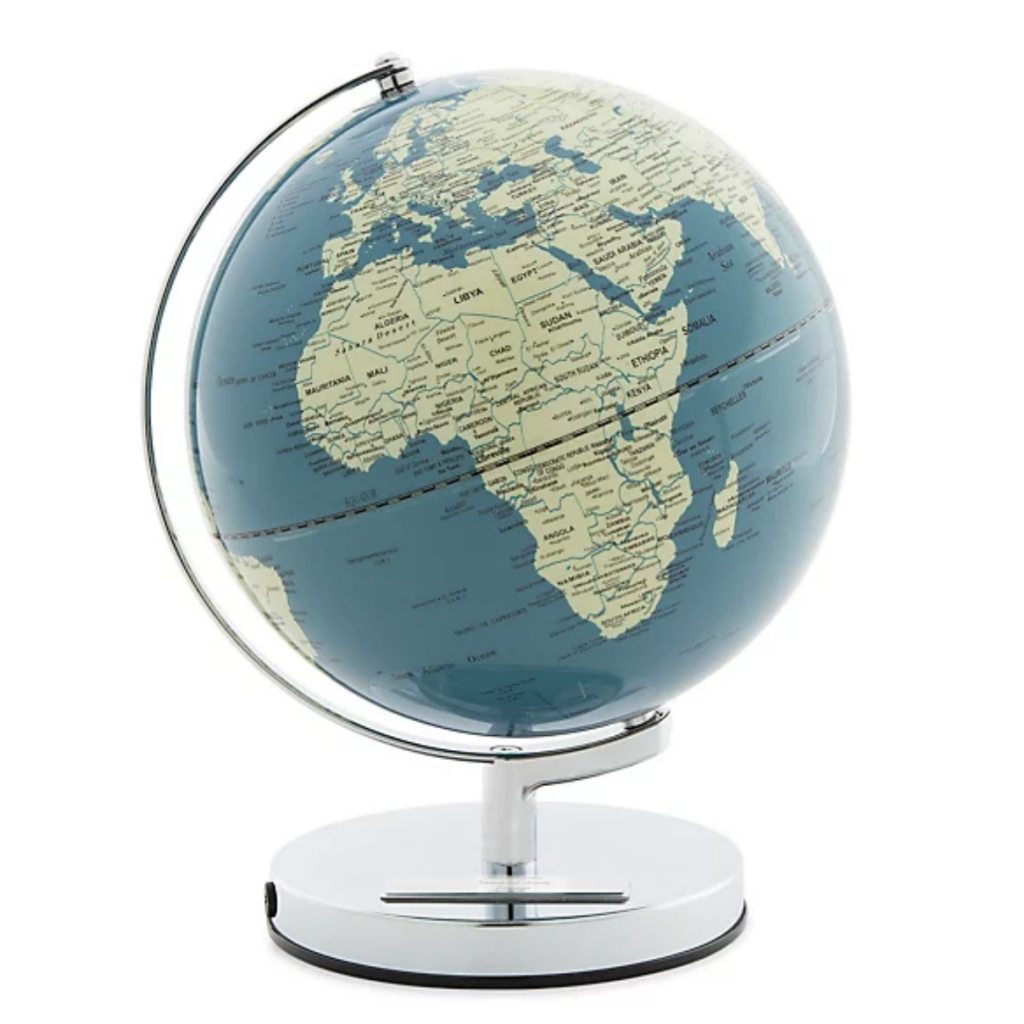 Globe - travel-themed home decor
