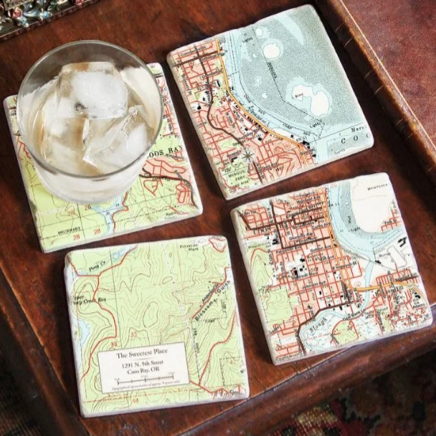 World map coasters - Thoughtful gifts for the grounded traveler