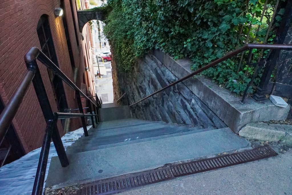 Visit the Exorcist Stairs in Georgetown Washington DC - DC fall bucket list