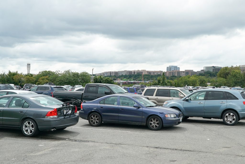 parking at Gravelly Point - Washington DC