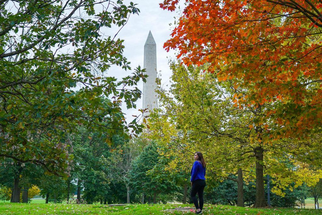 National Mall - Constitution Gardens - Washington DC - Fall Foliage