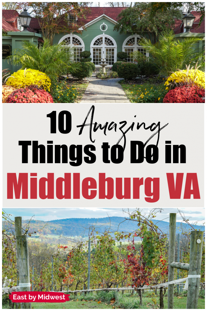 Two pictures of Middleburg Virginia - One inn and one winery