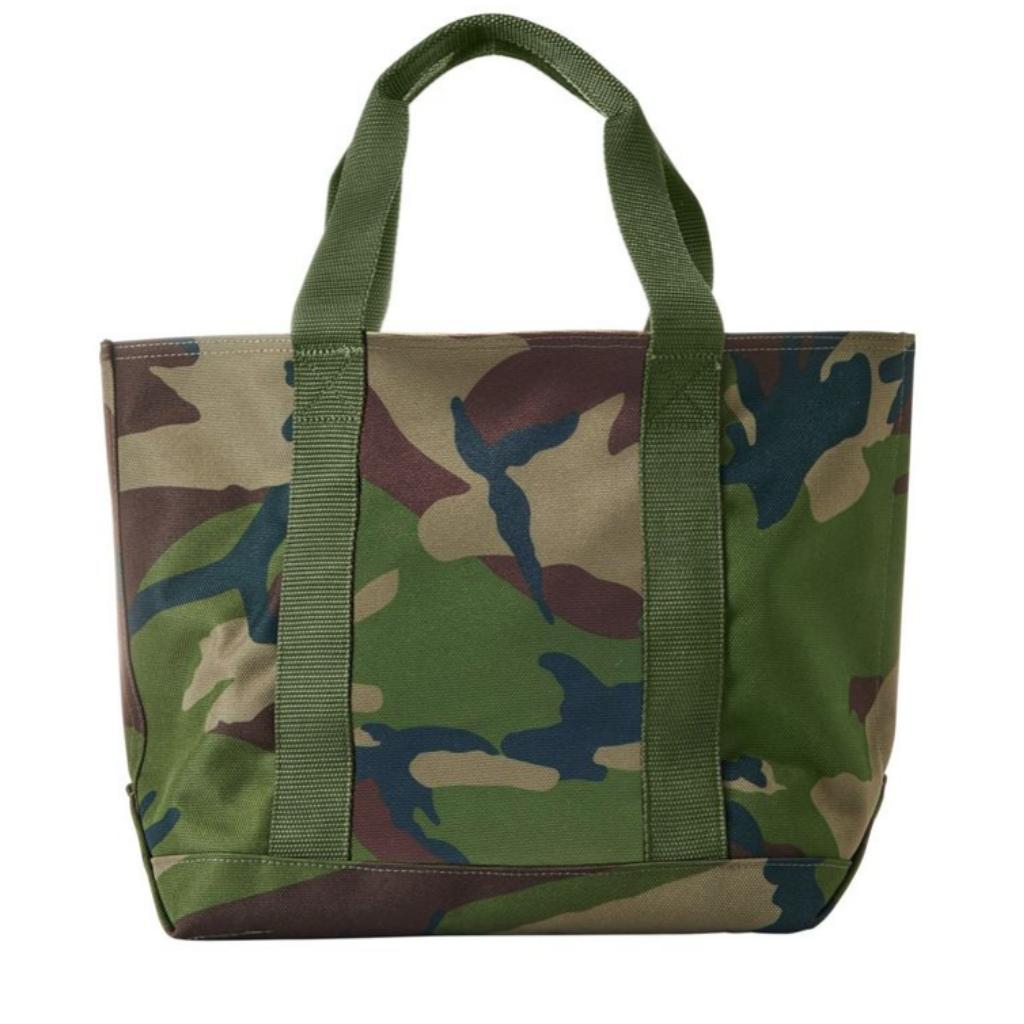 Camo-colored tote bag