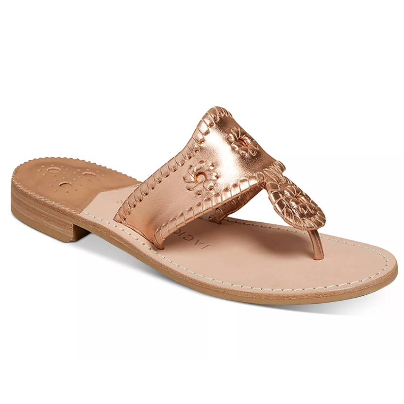 Cork sandal with metallic top
