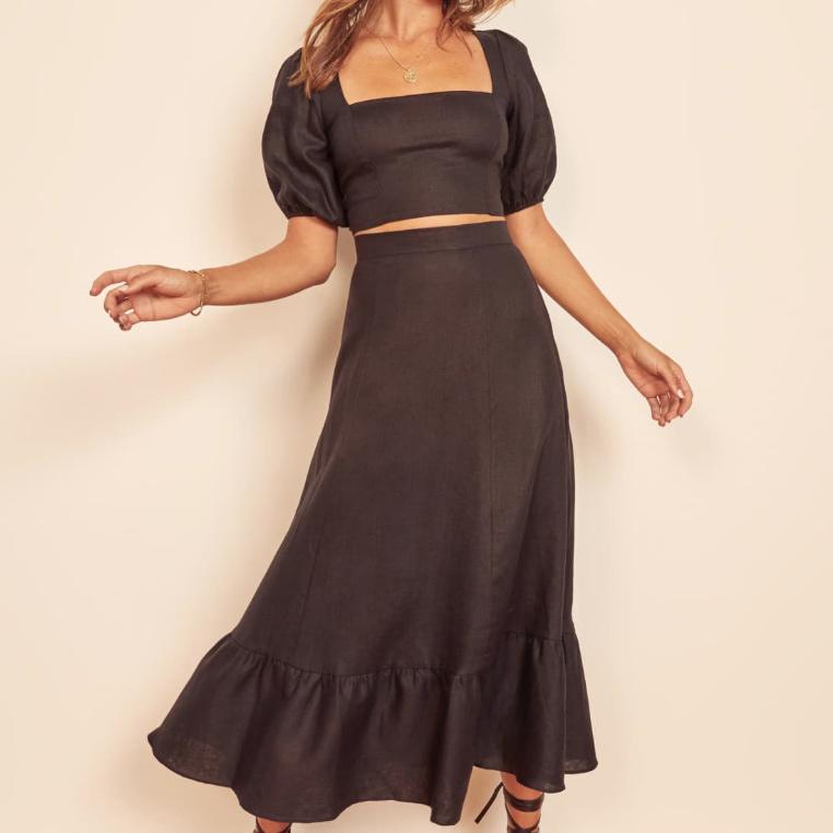 Black two-piece dress