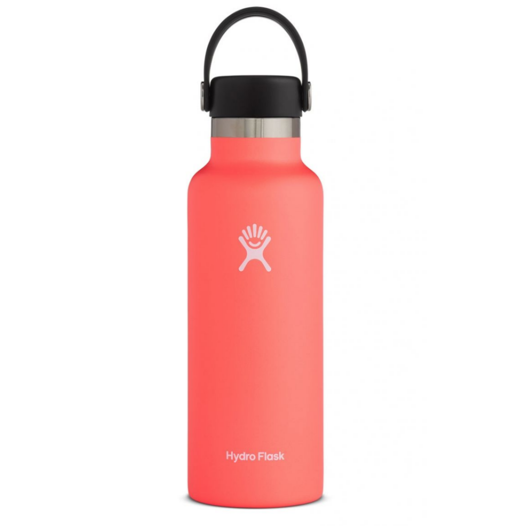 Red and black water bottle