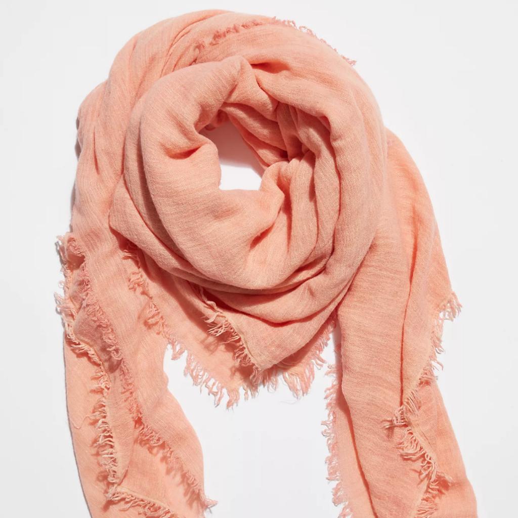 Peach scarf