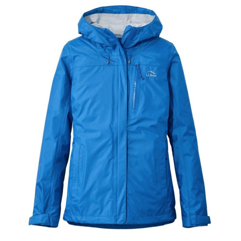 Blue rain jacket