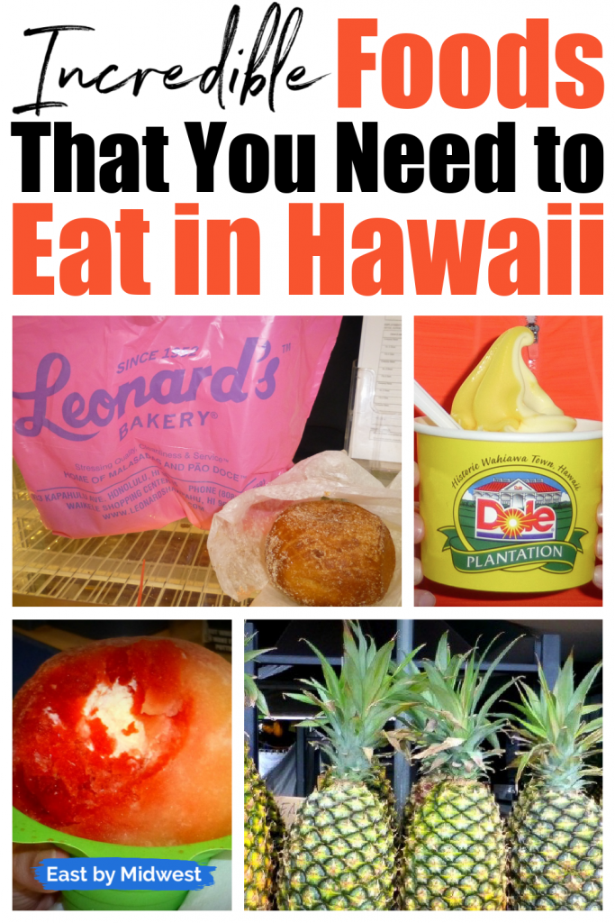 Collage of Hawaii Foods