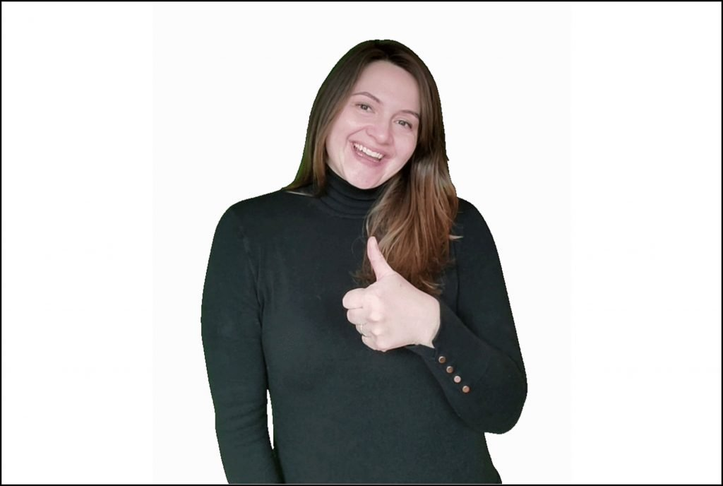 Woman in Black Turtleneck with White Background - How to Turn Yourself into a GIF